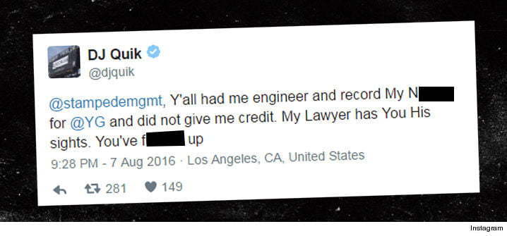 DJ Quik tweet