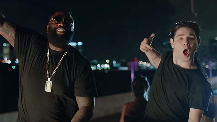 Rick Ross Skrillex The Joker In Purple Lamborghini Video