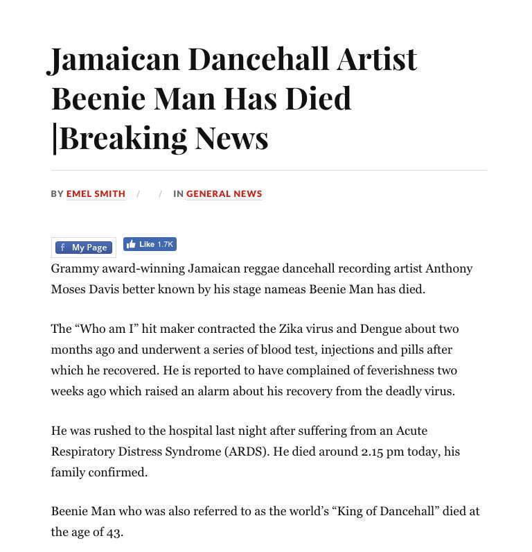 beenie-man-dead