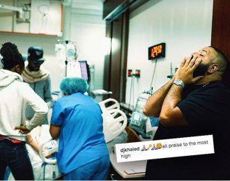 DJ Khaled Snapchat His Fiance Nicole Tuck Giving Birth To Son