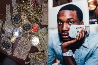 Meek Mill Brags About His Jewelry On IG Still Shading Nicki Minaj