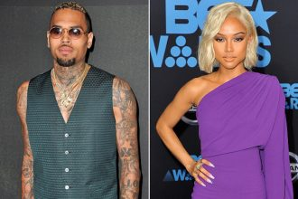 Chris Brown Maintains Distance From Karrueche But Not Quavo