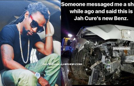 Jah Cure Escapes Injury In Serious Car Crash AMG Benz Totaled