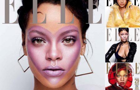 Rihanna Wears Her Heart On Her Face For Elle Launch Fenty Beauty