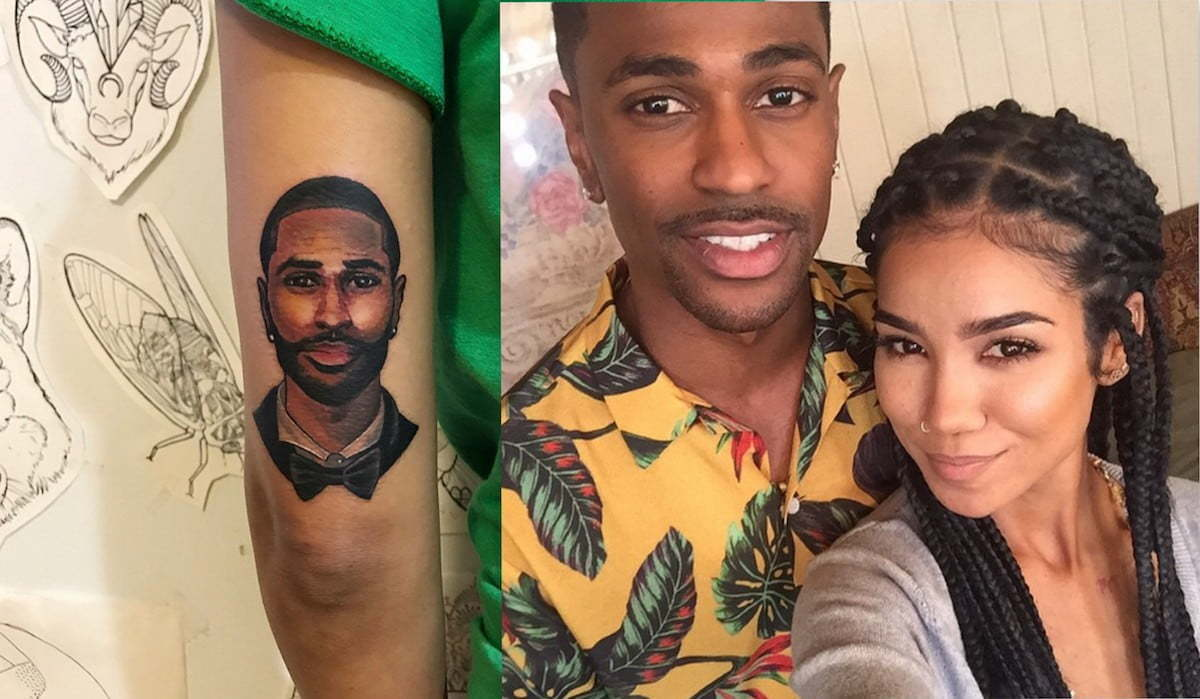 Jhene aiko gets giant tattoo of big sean to prove its real for Big sean tattoos