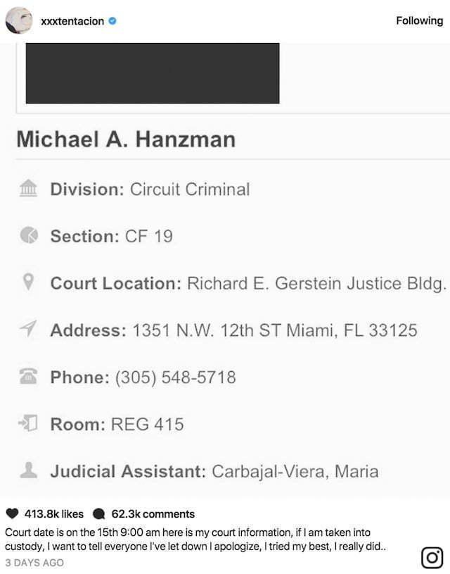hcgtrim4u.com | XXXTentacion Could Spend Christmas In Jail, Case ...