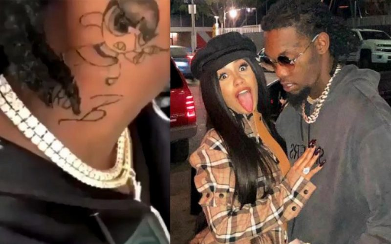 Cardi B Didn T Want Offset To Get Neck Tattoo Of Her Name Urban