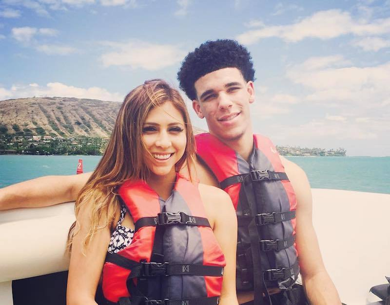 How long have lonzo ball and denise garcia been dating