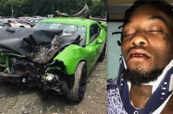 Offset car crash