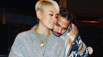 Chris Brown and Agnez Mo Shares Clip Of Them Kissing