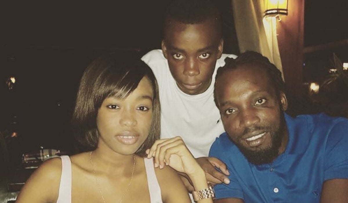 Mavado and his son and daughter