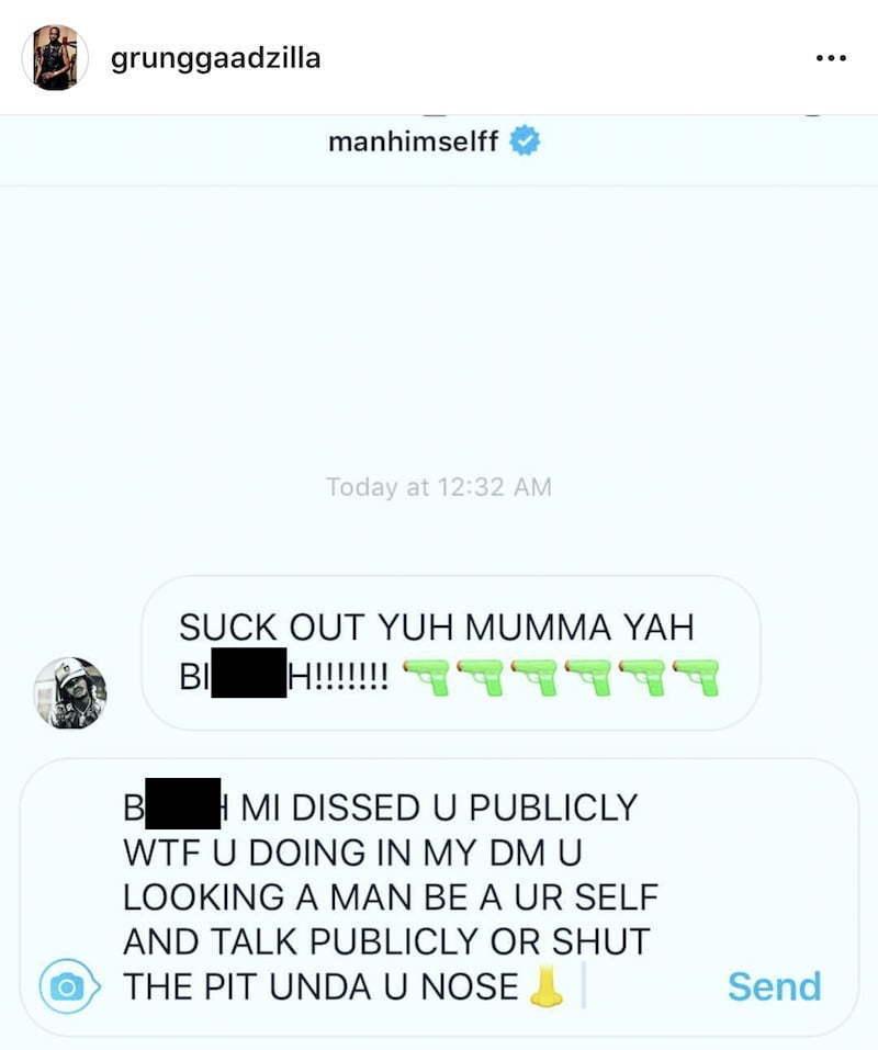 Alkaline Style Bounty Killer In His DM Told Him