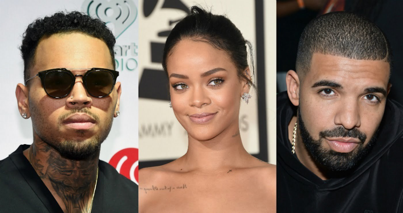 Chris Brown Rihanna and Drake