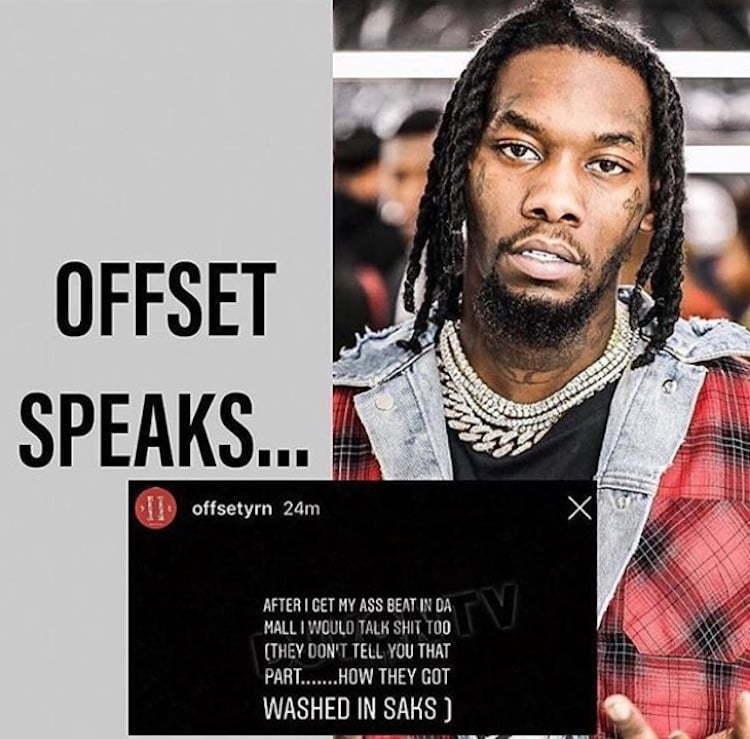 Offset Fired Off Warning To Yung Bans Over Cardi B Smashing Rumors - Urban Islandz