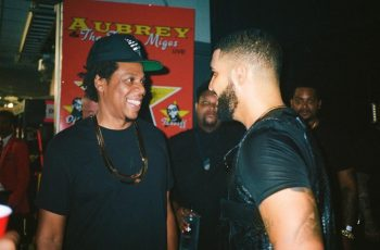 JAY-Z and Drake backstage