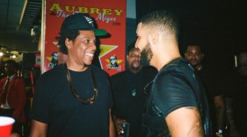 Drake and JAY-Z Spotted Laughing Backstage After Offset Fiasco