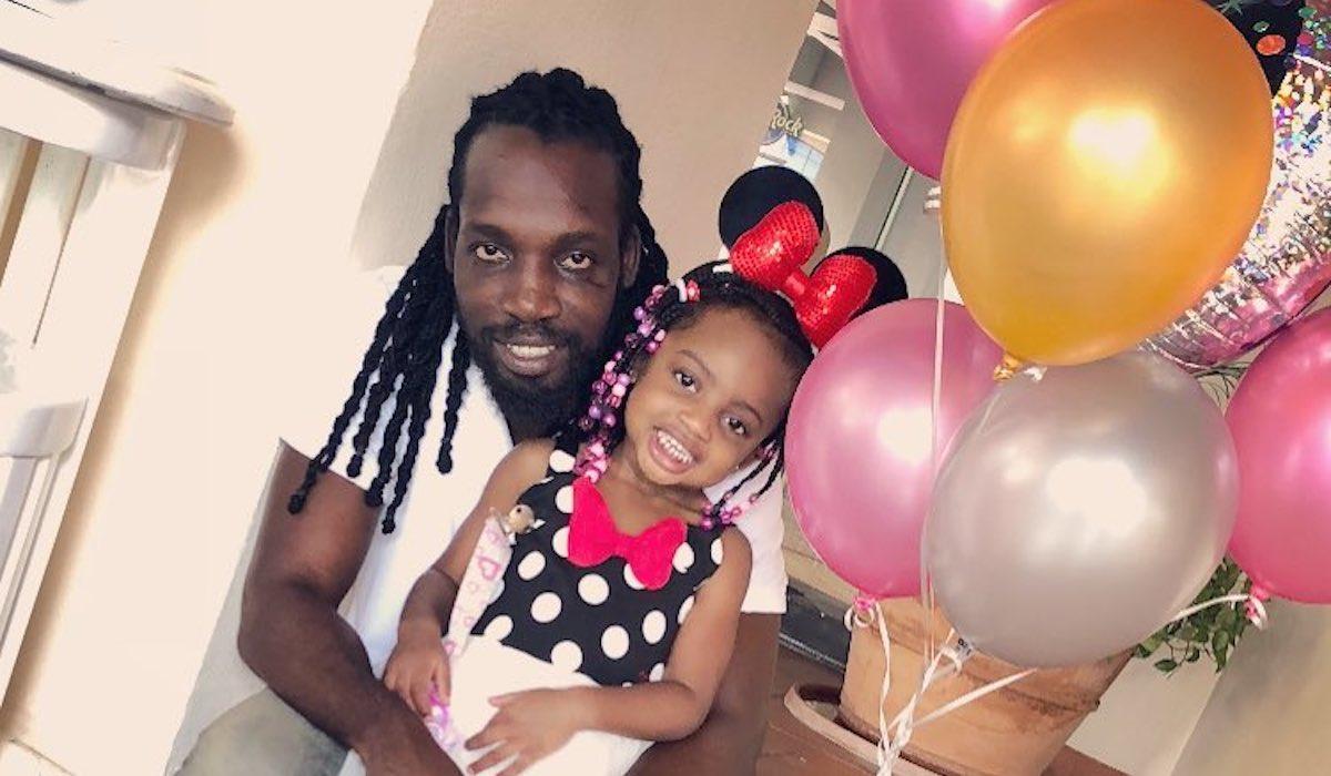 Mavado and his daughter
