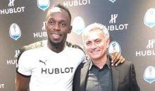 Usain Bolt and Jose Mourinho
