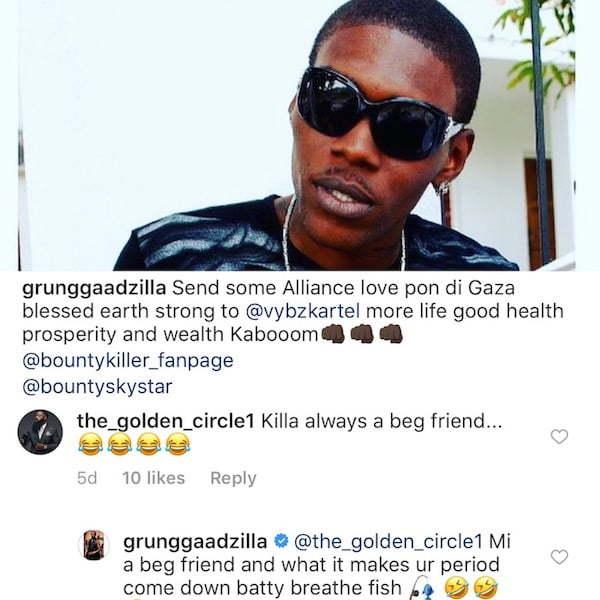Bounty Killer Clap Back At Vybz Kartel Fan Who Says He Is Begging Friend From Worl'Boss - Urban Islandz