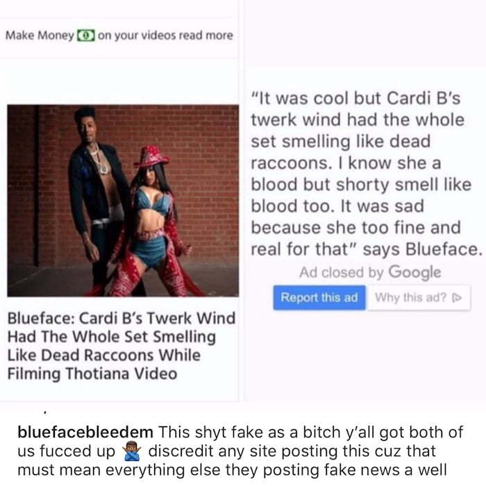 Cardi B Addresses Blueface Alleged Comments Her Booty Smell