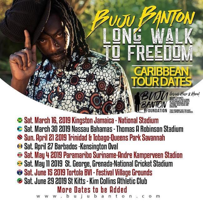 Concert Tour: Buju Banton Reveals Caribbean Tour Dates After Getting His