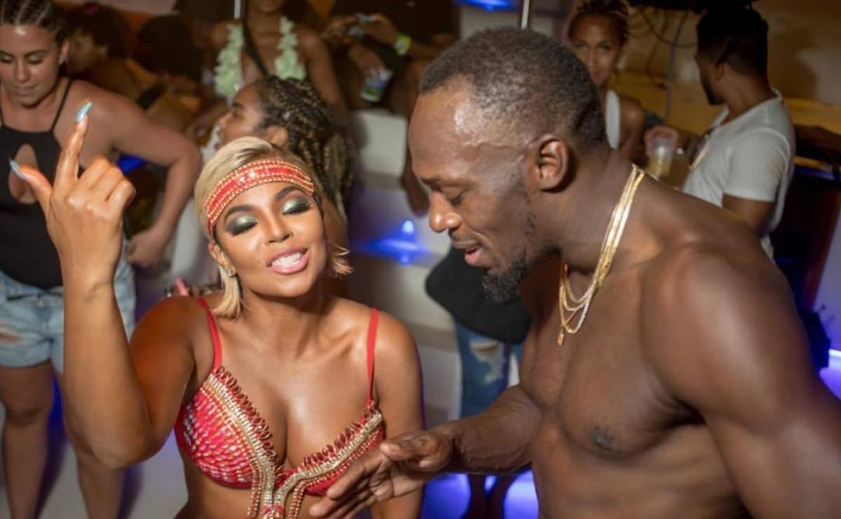 Ashanti and Usain Bolt