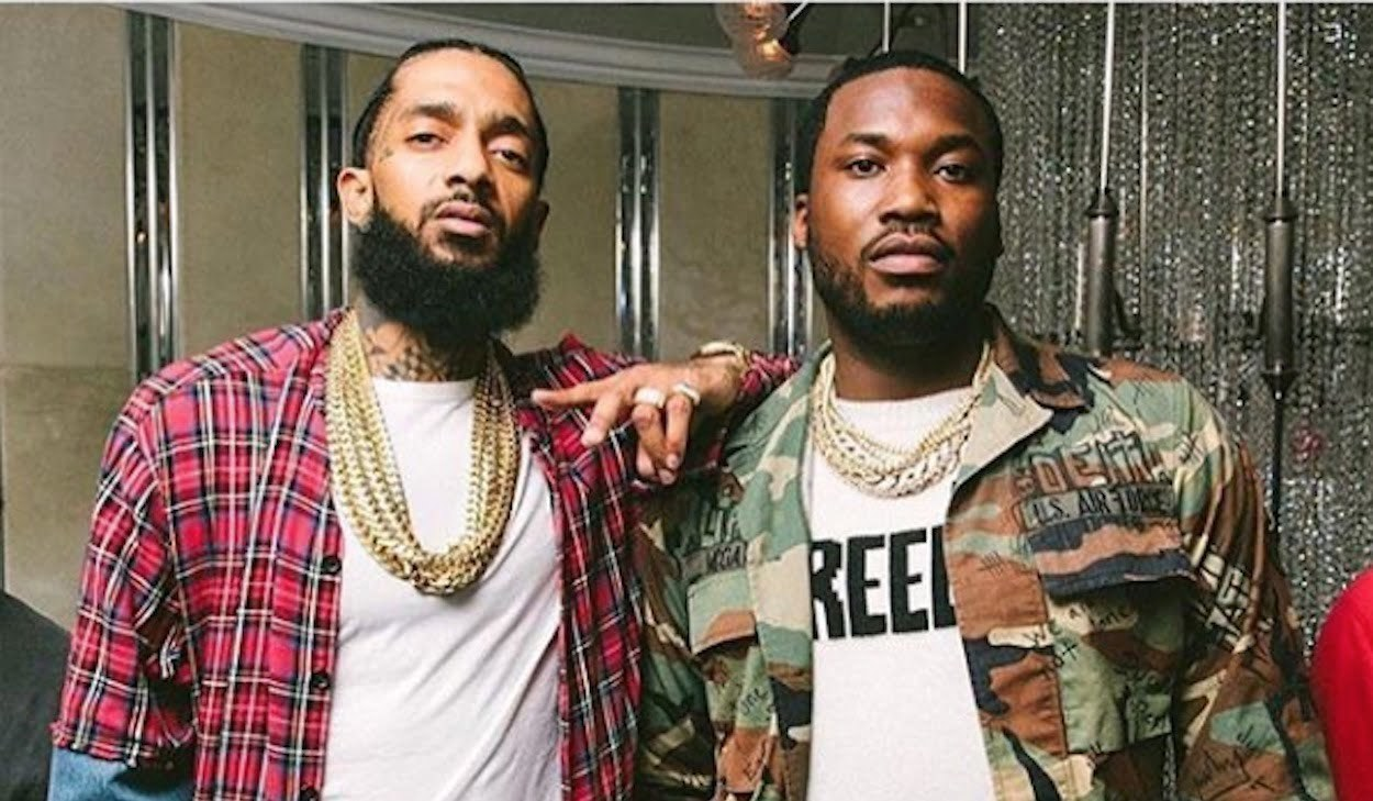 Meekmill React to the Death of Rapper Nipsey Hussle