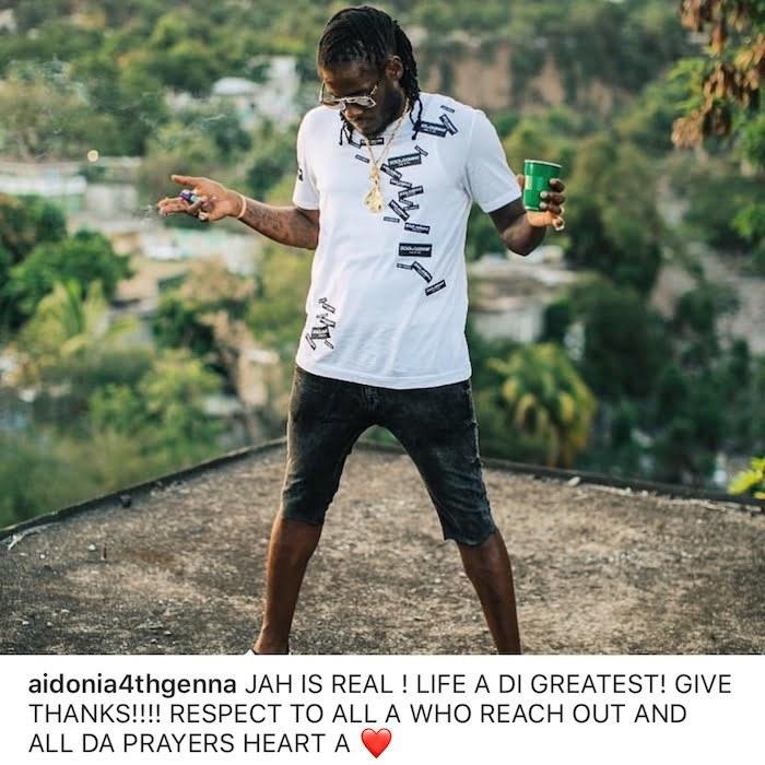 Aidonia Says He Is Thankful To Be Alive After Car Crash - Urban Islandz