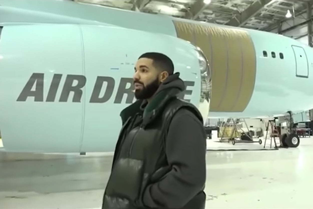 Rapper, Drake shows off his new private plane, 'Air Drake'