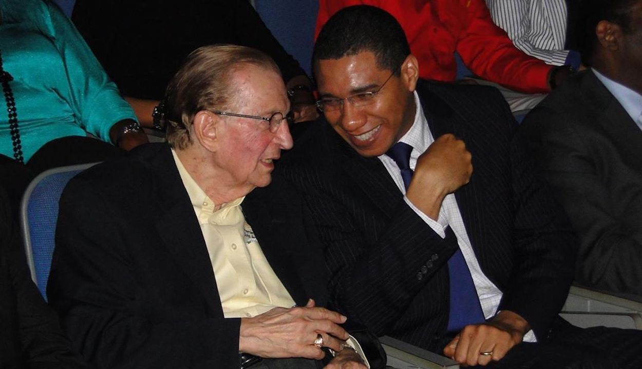 Edward Seaga and Andrew Holness
