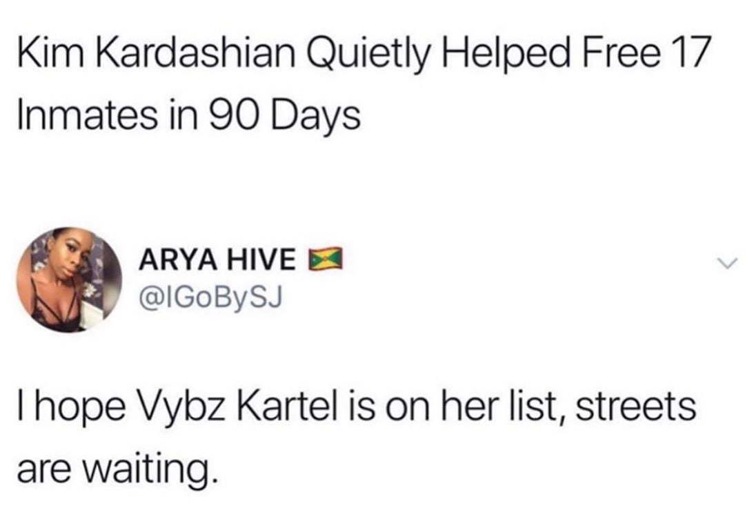 Les fans de Vybz Kartel veulent que Kim Kardashian aide à libérer la star du dancehall 1