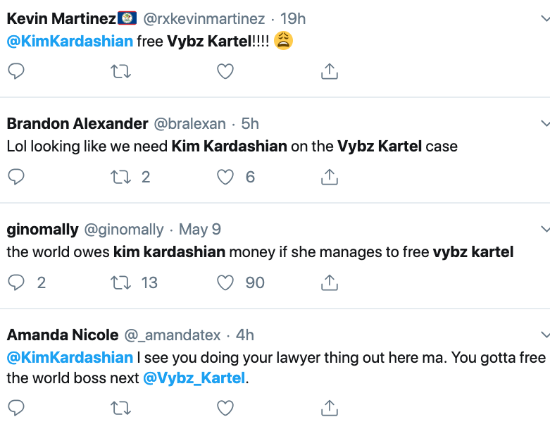 Les fans de Vybz Kartel veulent que Kim Kardashian aide à libérer la star du dancehall 2