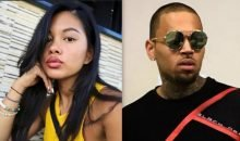 Ammika Harris and Chris Brown
