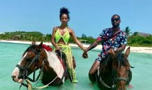 Safaree and Erica Mena caribbean