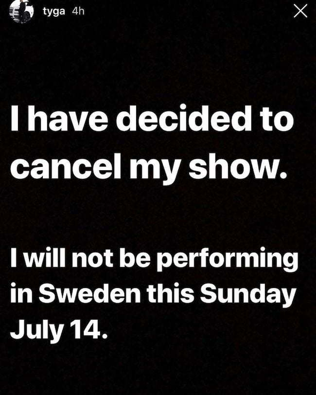 Tyga Cancels Show In Sweden In Solidarity To A$AP Rocky #FreeASAP - Urban Islandz