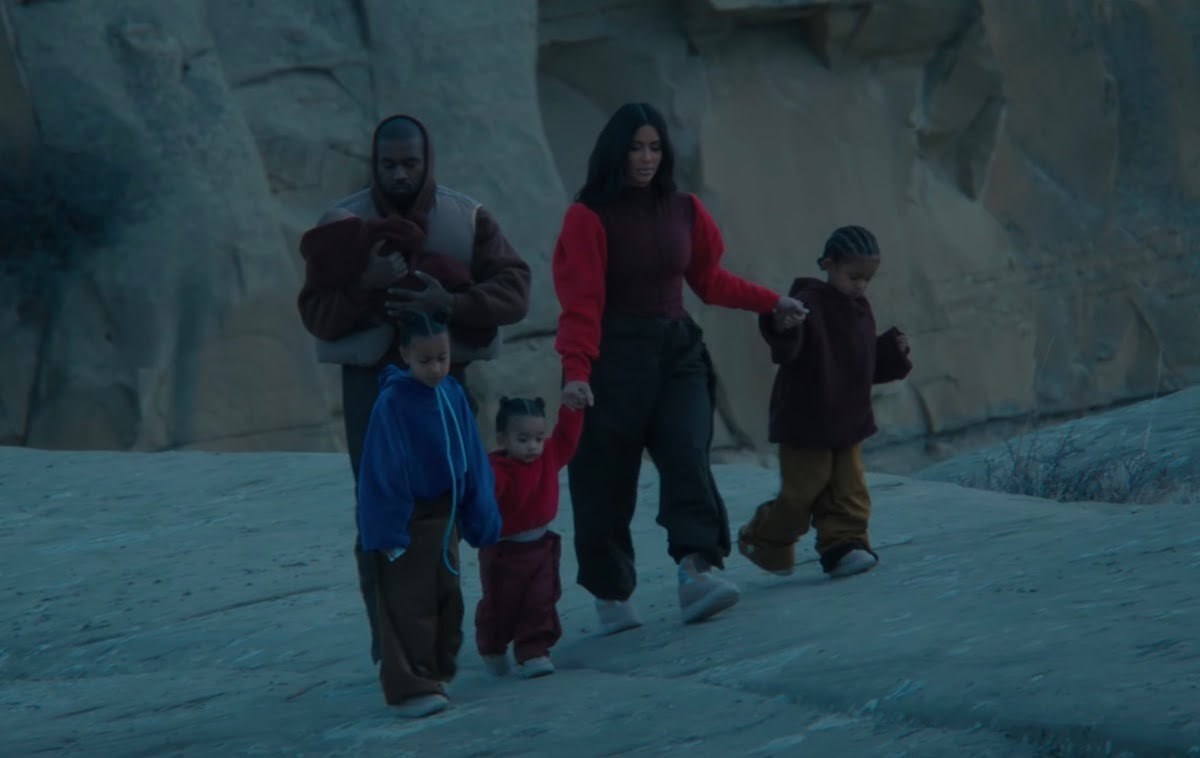 Kanye West features his wife, children in 'Closed on Sunday' visuals class=