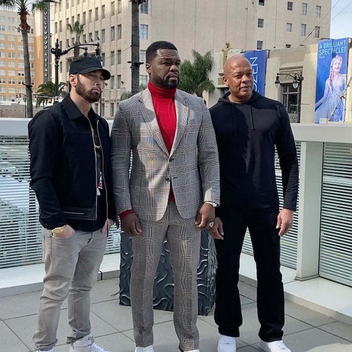 Eminem Makes Rare Public Appearance at 50 Cent's Star Ceremony